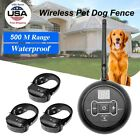 Wireless Electric 1/2/3 Dog Fence No-Wire Pet Containment System Rechargeable US