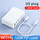 120W GaN SiC USB C Charger Quick Charge 4.0 3.0 QC Type C PD For Macbook Pro iP