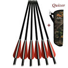 Archery Crossbow Arrows12P +1PCS Archery Quiver Arrow Holder Bow Camo Shoulder