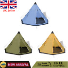 Camping Outdoors 4-person Tent Three Colours Iron Frame Traveling Shelter UK