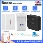 SONOFF RF Bridge 433MHZ Wifi Converter PIR 2 DW1 Door/ Window Alarm Sensor Kits