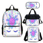 Rose Shy Unicorn Magical Girls School Backpack Insulated Lunch Box Pen Case Lot