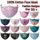 Cotton Face Mask reusable Washable three layers many Nature fashion design Lot