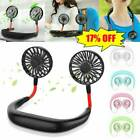 Usb Rechargeable Lazy Neck Hanging Dual Cooling Fan Sports Rest Portable 2020