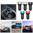 Dual USB Port Car Charger Adapter Quick Charge LCD Display Cigarette Socket