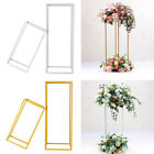 40/60cm Metal Geometric Flower Stand Pedestal Table Centrepiece Wedding Decor UK