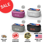 Radio Alarm Clock USB Charger,Bluetooth Speaker QI Wireless Charging, Dual Alarm