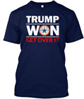 Navy Trump Won Get Over It T-shirts Tee size M-3XL US 100% cotton trend 2021
