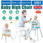 Portable Baby Highchair Infant High Feeding Seat 3 in 1 Toddler Table Chair NEW