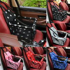 Folding Dog Cat Travel Booster Bag Puppy Pet Car Seat Carrier Safety Belt Cover