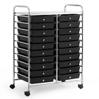 20 Drawers Storage Rolling Cart Studio Organizer, Home Office School