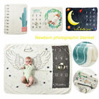 Newborn Baby Infants Milestone Blanket Photography Prop Monthly Growth Outfit