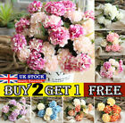 Artificial Silk Hydrangea Fake Flowers Bunch Bouquet Home Wedding Party Decor Bs