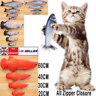 Realistic Cat Kitty Kitten Catnip Toys for Biting Chewing Fish Toy 20/30/40/60CM