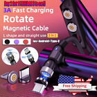 3A Magnetic Phone Charger Cable IOS/ Micro USB /USB Type-C Fast Charging Cable