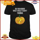 Pumpkin Belly Pregnancy Announcement Halloween Twins Shirt