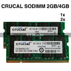 Crucial 2GB 4GB 8GB PC2-6400 DDR2 800 MHz 200pin Laptop SODIMM Memory Ram LOT