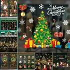 Window Stickers Merry Christmas Snowman Santa Vinyl Xmas Party Home Decoration !