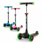 iScoot Flash Kids Scooter 3 Wheels with LED Light up Wheels and Handlebars
