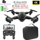 SG701 Drone with 5G WIFI FPV 4K Dual HD Camera Quadcopter Foldable RC Helicopter
