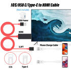 1080P HD HDMI Mirroring Cable Phone to TV HDTV Adapter For iPhone/ Android US