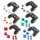 Alloy Metal Bullet Buttons Thumbsticks D-Pad Kit For PS4 Controller Replacement