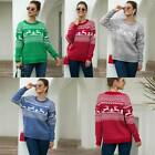 Knitted Warm Jumper Loose Tops Pullover Knitwear Winter Christmas Womens