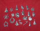 25/50 Tibetan Silver Assorted Christmas Theme Charms#crafts/jewellery Making