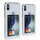 For iPhone 11 Pro Max XS XR 6 7 8 Card Slot Transparent Shockproof Case Cover