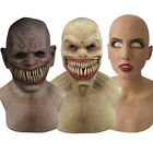 Mask Halloween Creepy Wrinkle Face Mask Latex Cosplay Party Props