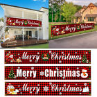 Merry Christmas Outdoor Banner Hanging Sign Flag Ornament Xmas Home Party Decor