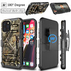 For Apple iPhone 12 Mini/Pro/Max 5G Armor Case with Kickstand Belt Clip Cover