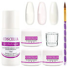 COSCELIA Nail Acrylic Powder Liquid Nail Starter Kit Manicure Tool Set Brush US