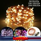 USB 5M 50LEDs 10M 100LEDs 20M 200LEDs LED Copper Wire String Light Fairy Light