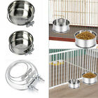 Stainless Steel Cat Cage Hanging Bowl Food Container Pet Bowl Dish Feeder