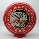 """INDIAN MOTORCYCLE HEAD DESIGN 13.5"""" Gas Pump Globe WITH MATCHING LAMP BASE"""