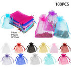 100x+Organza-Bags+Jewellery+Pouches+Wedding+Favour+Party+Christmas+Candy+Gift