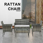 Rattan Wicker Garden Furniture Set Chairs Coffee Table Patio Outdoor Conservator