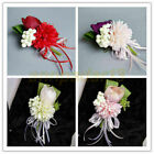 Handmade Small Tea Rose Artificial Flowers Boutonniere Groom Groomsman Corsages