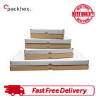 CARDBOARD BOXES SHIPPING POSTAL ROYAL MAIL LARGE LETTER DIE CUT WHITE & BROWN