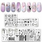 PICT You Nail Stamping Plates Flower Pattern Nail Art Plate Stencil Stainless