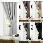 280gsm Thermal Blackout Door Curtain Patio Bedroom Eyelet Ring Top Curtain