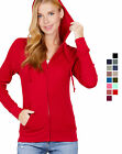 Внешний вид - Women's Basic Zip Up Hoodie Thermal Jacket Lightweight Pockets Drawstrings