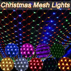 Christmas+LED+String+Fairy+Curtain+Lights+Mesh+Net+Outdoor+Indoor+Decorations+UK