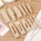 12 Pcs Pearl Hair Clips Large Hair Clips Pins Barrette Ties Hair for Women Girls