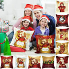 Soft Throw Pillow Case Cushion Covers Christmas Sofa Decoration Santa Snow X-mas