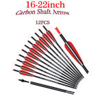 """16-22"""" Carbon Shaft Arrows Crossbow Bolts for Archery Bows Hunting Target 12Pk"""