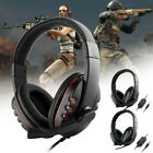 3.5mm Wired Gaming Headset Stereo Surround Headphone Mic For PS4 Xbox one Laptop
