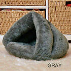 Pet Cat Dogs House Kennel Cuddle Cave Sleeping Bed Soft Mat Pad Winter Warm Nest