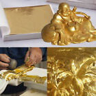 Внешний вид - 100 Sheets Double Gold DIY Foil Leaf Paper Food Cake Decor Edible Gilding Craft